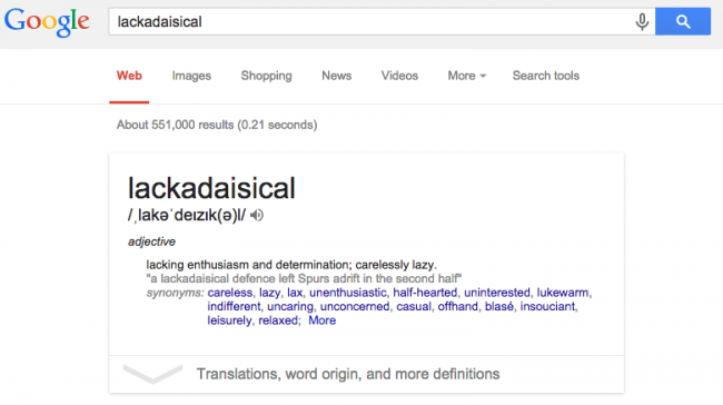 oxford dictionary definition of lackadaisical