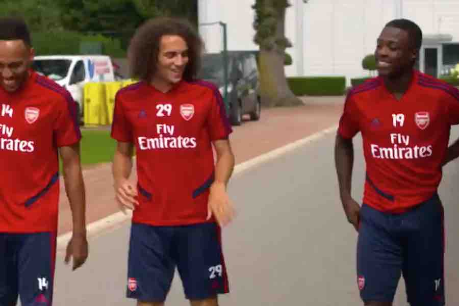 new concept c51ee a5483 Video and Photo: Nicolas Pepe's first training session with ...
