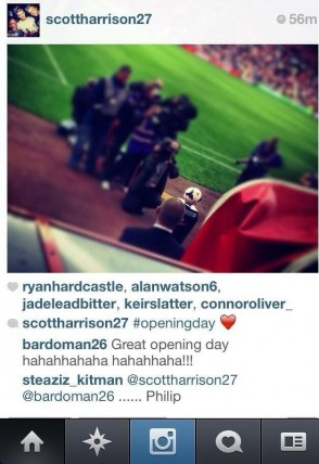 Phil Bardley Sunderland Fulham Instagram Suspended