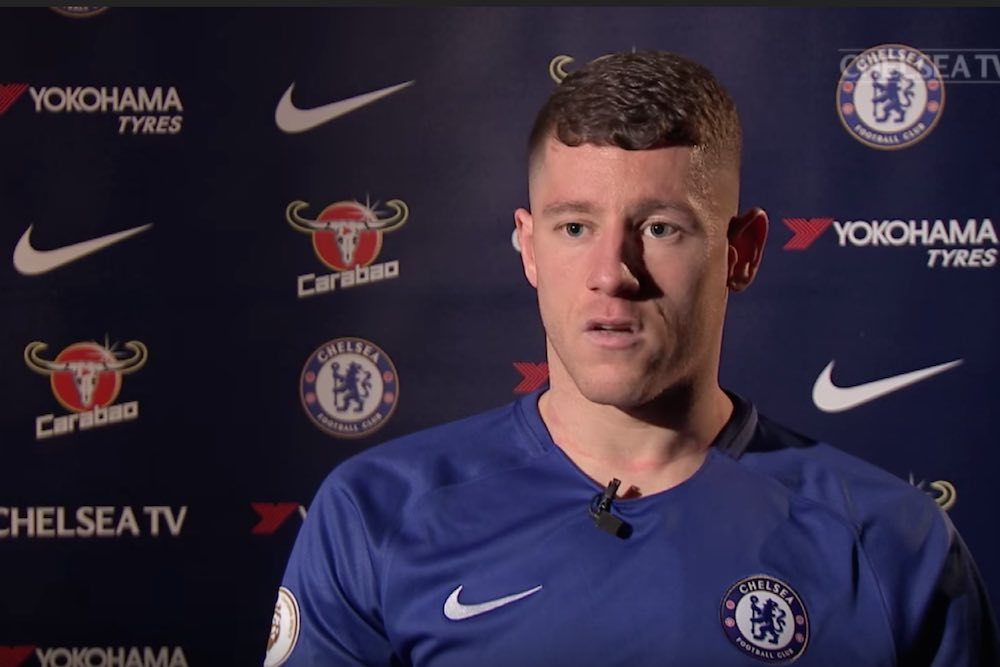 finest selection 140ac 0a179 Video: Ross Barkley wears Chelsea shirt for first interview ...
