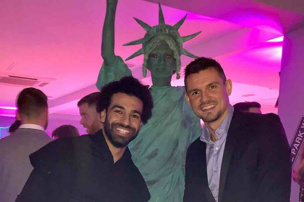 photo liverpool stars in new york sort of after beating man utd off the post. Black Bedroom Furniture Sets. Home Design Ideas