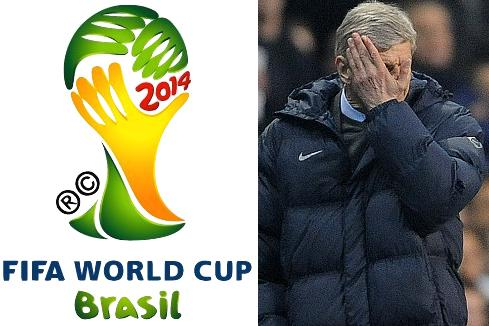 Football Lookalikes: Brazil 2014 World Cup logo and an Arsene Wenger